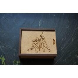 Caja DM 3 mm a medida 65x50x17 mm + Grabado