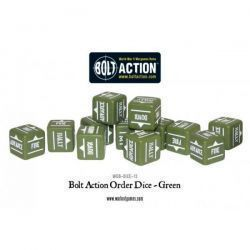 Bolt Action Orders Dice - Green