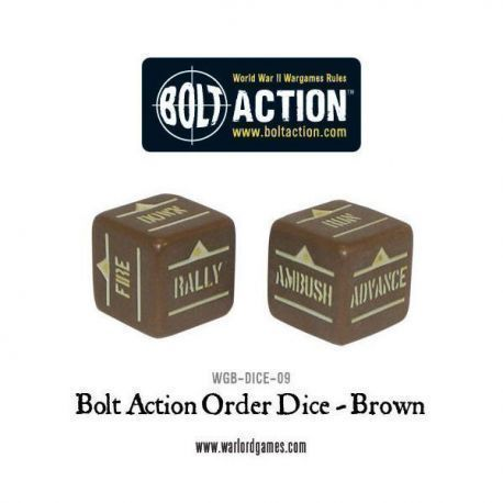 Bolt Action Orders Dice - Brown
