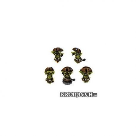 Orc Cyber Pirates Heads (10) (Tba)