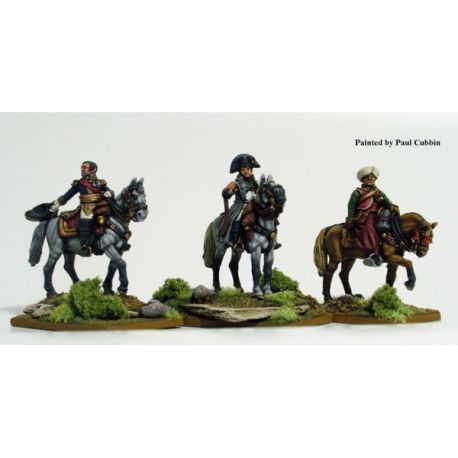 Napoleon and staff mounted