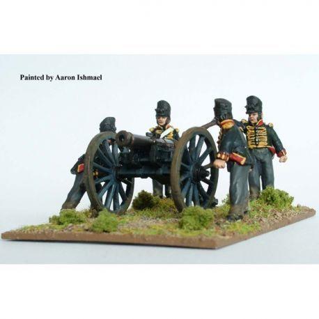British Foot Artillery firing 9 pdr