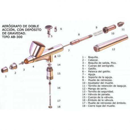 Set 0.3Mm:Aguja,Boquilla,Cabezal Aire