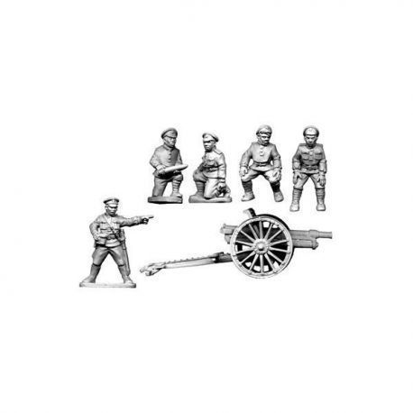 White Russian Field Gun and Crew (T24)