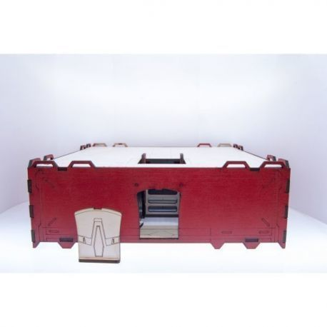 Prepainted Modular Building (Red & White)