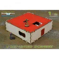 Prepainted Modular Building (White & Red)