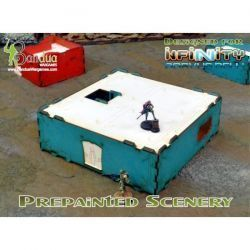 Prepainted Modular Building (Turquoise & White)
