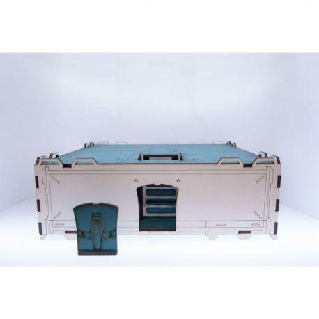 Prepainted Modular Building (White & Turquoise)