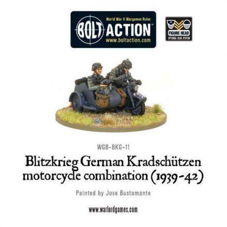 Blitzkreig German Kradschutzen Motorcycle Combination (1939-42)