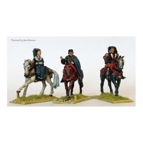 Lancastrian mounted high command ( Henry VI, Margret of Anjou, Duke of Buckingham)