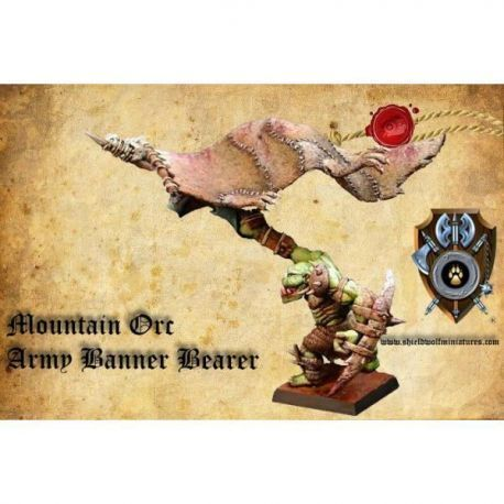 Mountain Orcs Army Banner Bearer