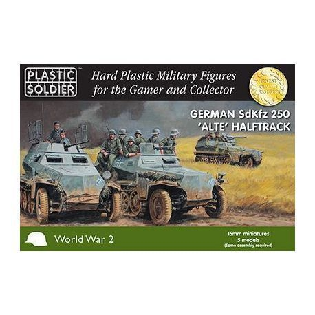 "1/72nd WW2 German SdKfz 250 ""alte"" Halftrack with Variants Kit"