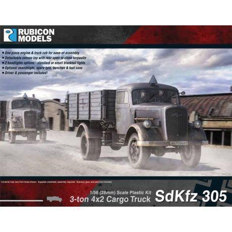 SdKfz 305 3-ton 4 x 2 Cargo Truck - Opal Blitz