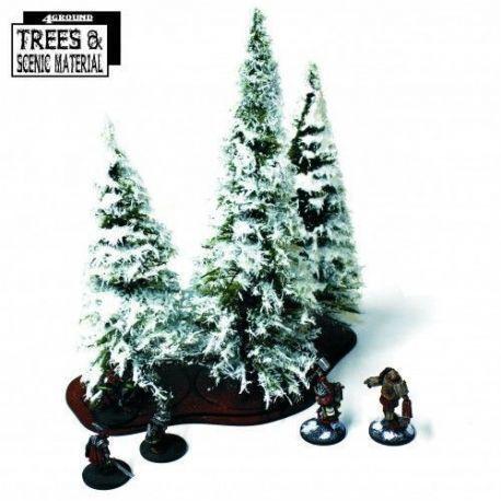 3 X Mature Winter Fir Trees & Base