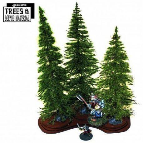 3 X Mature Fir Trees & Base