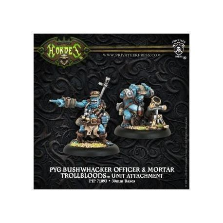 Trollblood Pyg Bushwacker Officer & Mortar