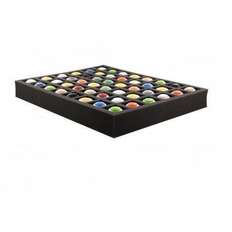 FS050I048BO 50 mm (2 inch) full-size Figure Foam Tray with base and 48 quadratic slots