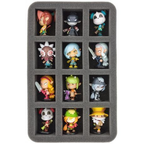 HS050KR02 50 mm (2 inch) half-size Figure Foam Tray for 12 Krosmaster figures