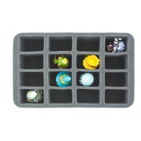 HS070KR08 70 mm (2.75 inches) half-size Figure Foam Tray for 16 Krosmaster figures