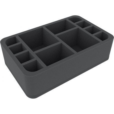 HS075DC01 75 mm (2.95 inches) half-size foam tray with 12 slots for Descent