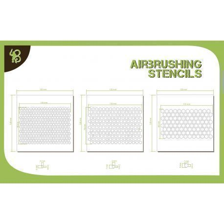 Bandua Stencils: Hexagon Pattern 1