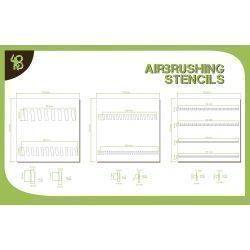 Bandua Stencils: Sloping Stripes 1