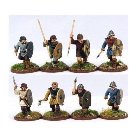 Carolingian Warriors On Foot