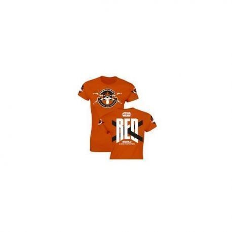 Red Squad M/Corta Camiseta Naranja Chica T-M Star Wars Ep7
