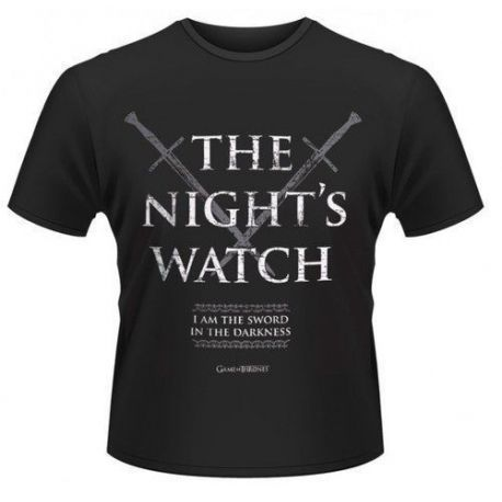 CAMISETA JUEGO DE TRONOS NIGHT'S WATCH M
