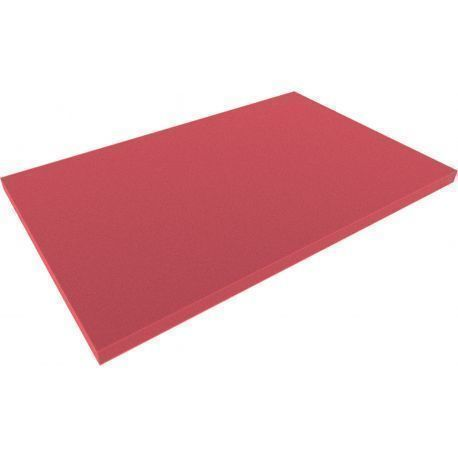 DS020Bred 550 mm x 345 mm x 20 mm colored foam for Shadowboard red