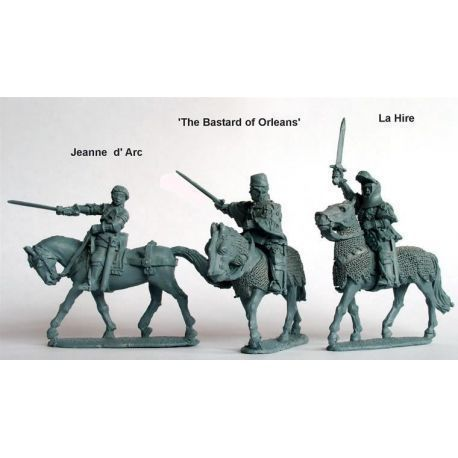 Jeanne d'Arc, La Hire, 'Bastard of Orleans' (all mountd)