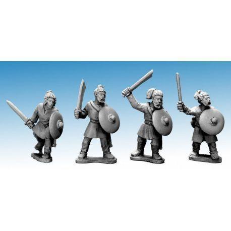 Saxon Warriors with swords