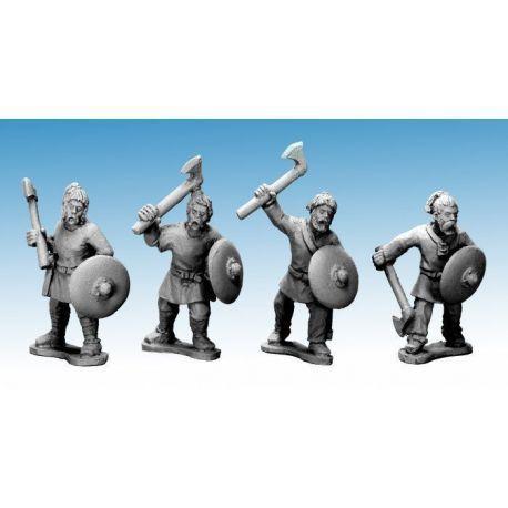 Saxon Warriors with axes
