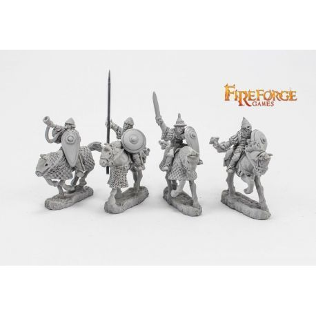 Junior Druzhina Command (4 mounted resin figures)