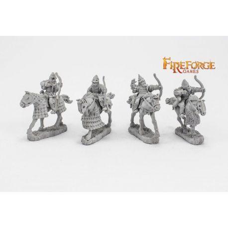 Senior Druzhina Archers (4 mounted resin figures)