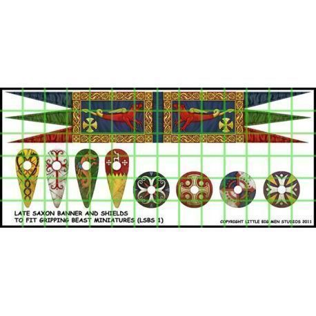 Saxon Banner and Shields