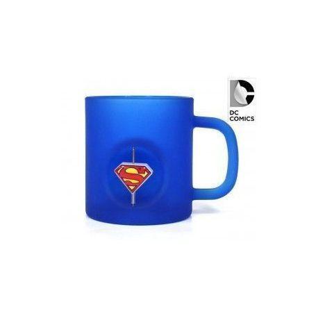 SUPERMAN LOGO TAZA CRISTAL EMBLEMA GIRATORIO 3D DC COMICS