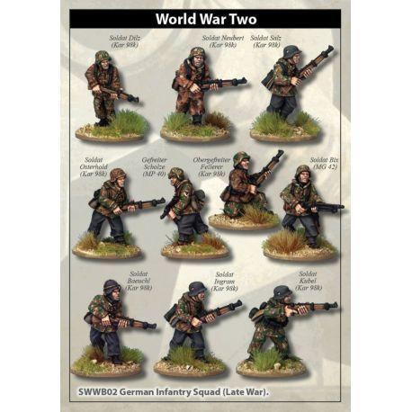 Late War German Infantry in smocks Squad