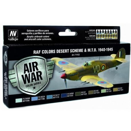 MODEL AIR SET:WWII RAF DESERT COLORS (8)