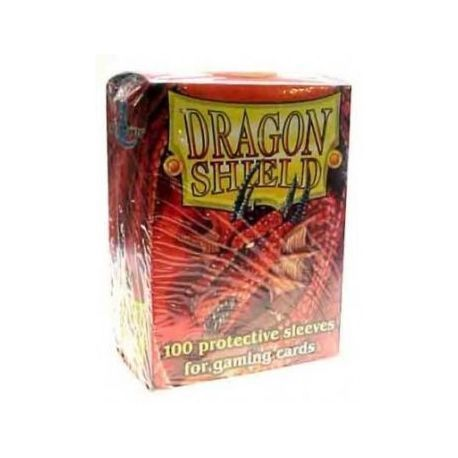 Dragon Shield Standard Sleeves - Red (100 Sleeves)