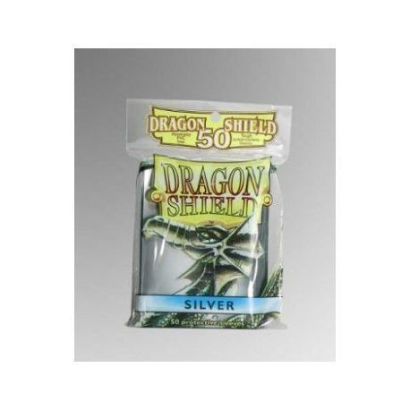 Dragon Shield Standard Sleeves - Silver (50 Sleeves)