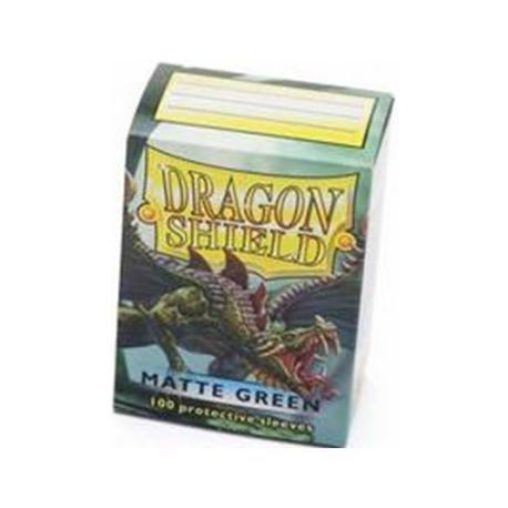 Dragon Shield Standard Sleeves - Matte Green (100 Sleeves)