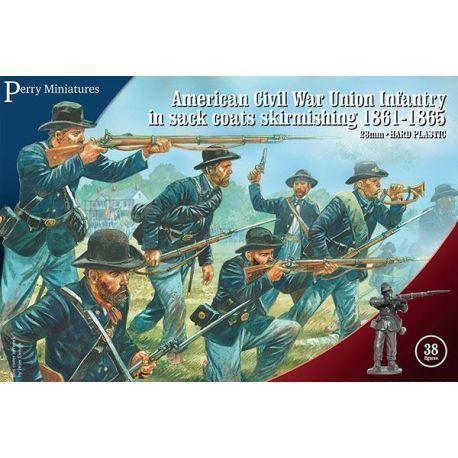American Civil War Union Infantry in sack coats skirmishing 1861-65