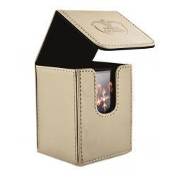 FLIP DECK CASE LEATHERETTE 100+ BEIGE