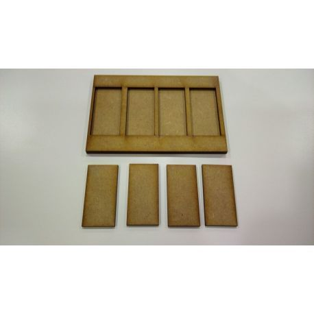 Movement Tray 120x80mm, 4 bases 25x50mm