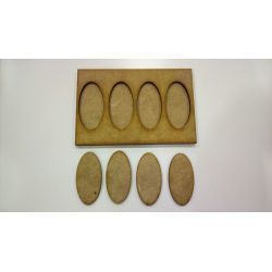 Movement Tray 120x80mm, 4 oval bases 25x50mm
