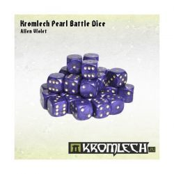 Kromlech Pearl Battle Dice - Alien Violet