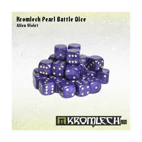 Kromlech Pearl Battle Dice - Alien Violet