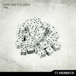 Mini Battle Dice White