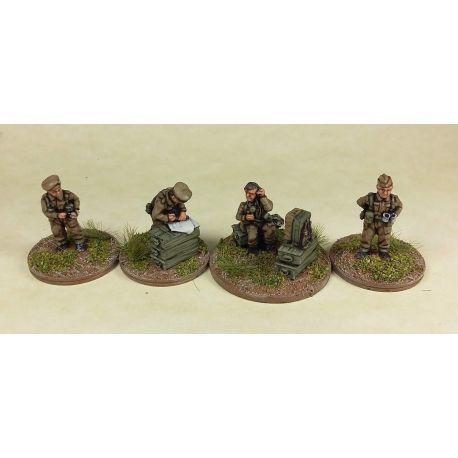 15mm British HQ/Battery Staff Teams